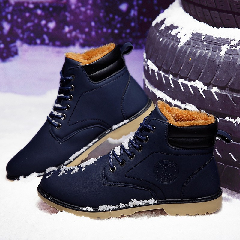 YWEEN Men Leather Boots Autumn Winter High Style Waterproof Fashion Outdoor Work Shoes Casual Martin Boot For Man Hot Sale 38