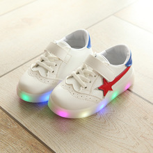 New 2018 Cool fashion LED fashion baby girls boys sneakers high quality baby toddlers shoes Lighting shinning baby first walkers