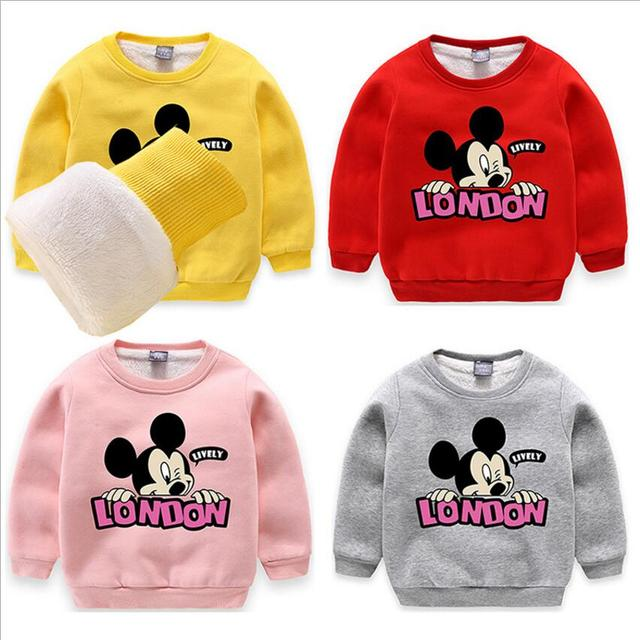 2018retail Baby Clothes Autumn Winter New Cartoon Mickey Mouse
