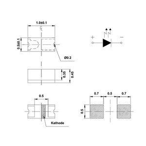 100 шт. SMD LED 0402 (1005) Белый 9000K 20mA 3V поверхностное крепление SMT Chip Beads, светодиодная лампа, излучающая диоды, электронные компоненты