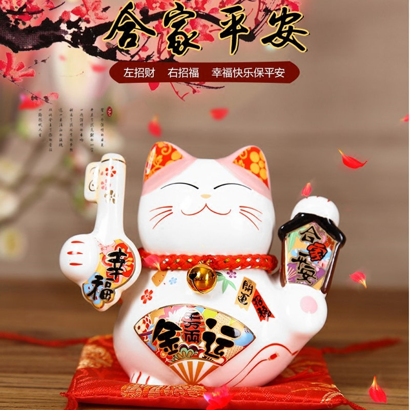 Decoration Arts crafts girl gifts get married 1 bags of mail and cat cat car decoration car ceramic jar Mini trumpet birthday gi