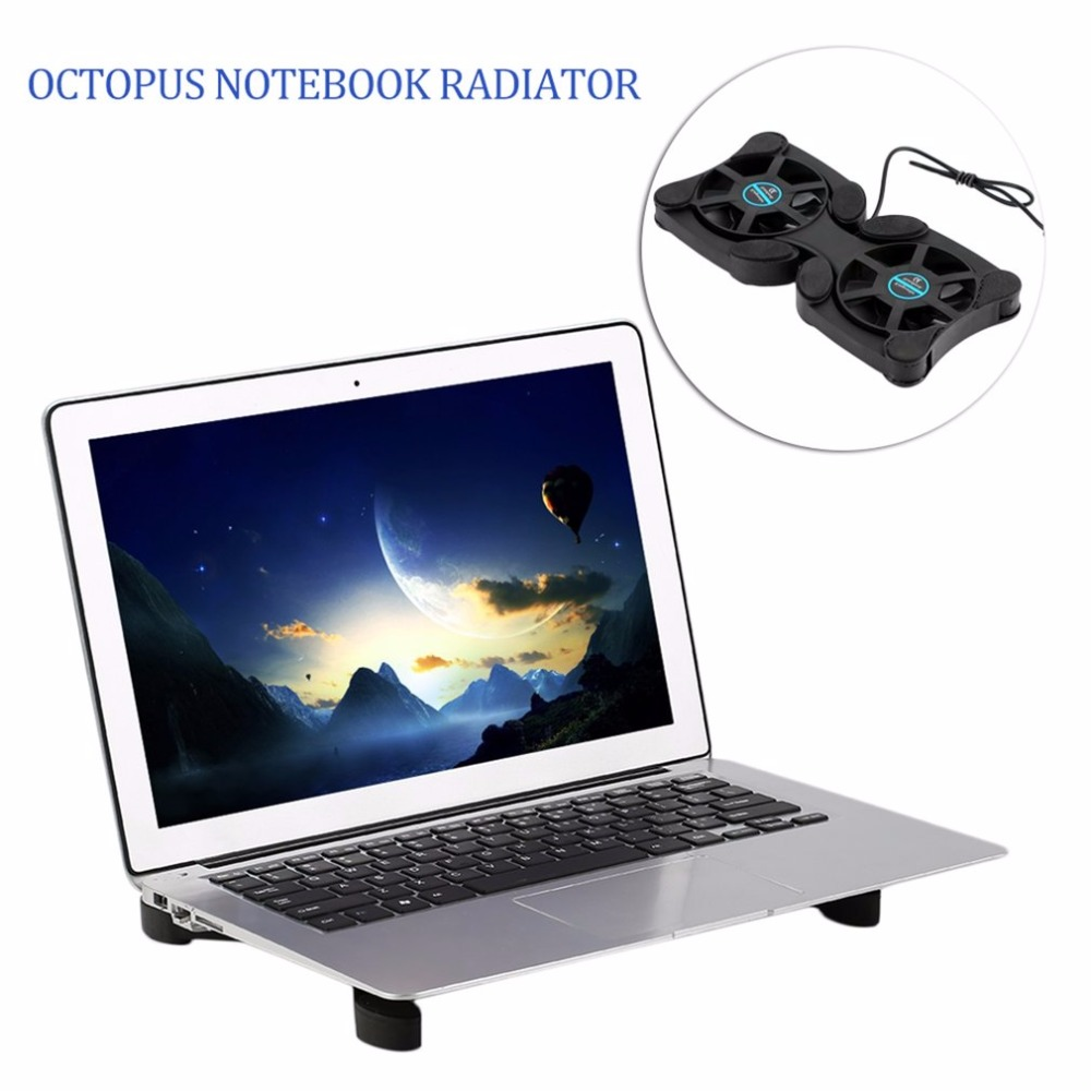 Image 2 - 2 USB Port Mini Octopus Laptop Fan Cooler Cooling Pad Folding Coller Fan Cooling Pad Wholesale Store-in Fans & Cooling from Computer & Office