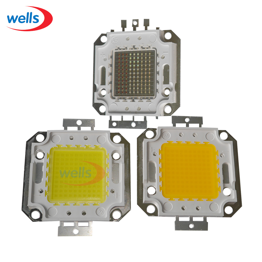 LED Çip 10 W-100 W Boncuk Serin Natuurlijke Sıcak Wit RGB 10-100 W Watt entegre ışık kaynağı 100 W yüksek güç LED lamba boncuk