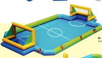 Your Reliable Supplier for Inflatable Football Pitch Kids Bouncing Football Court HZ 6930c