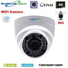 Wi-Fi ip-купольная камера HD беспроводная безопасность CCTV веб-камера Встроенный микрофон слот для sd-карты использование для внутренней поддержки смартфона