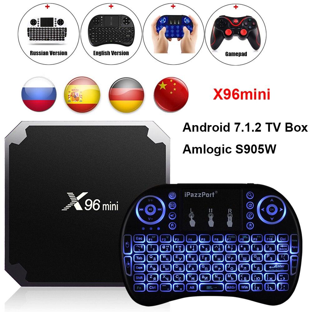 X96mini Android 7.1.2 TV Box Amlogic S905W 2 GB RAM + 16 GB ROM/1 GB + 8 GB Quad Core WIFI HDMI 4 Karat * 2 Karat HD Smart Set Top BOX Media Player