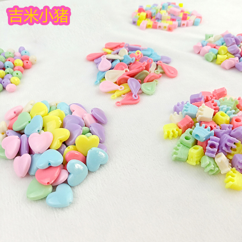 500g Beads Toys For Children Girl Gifts DIY Lacing Necklace Bracelets Kids Kindergardon Beaded Puzzles Educational Toy Wholesale