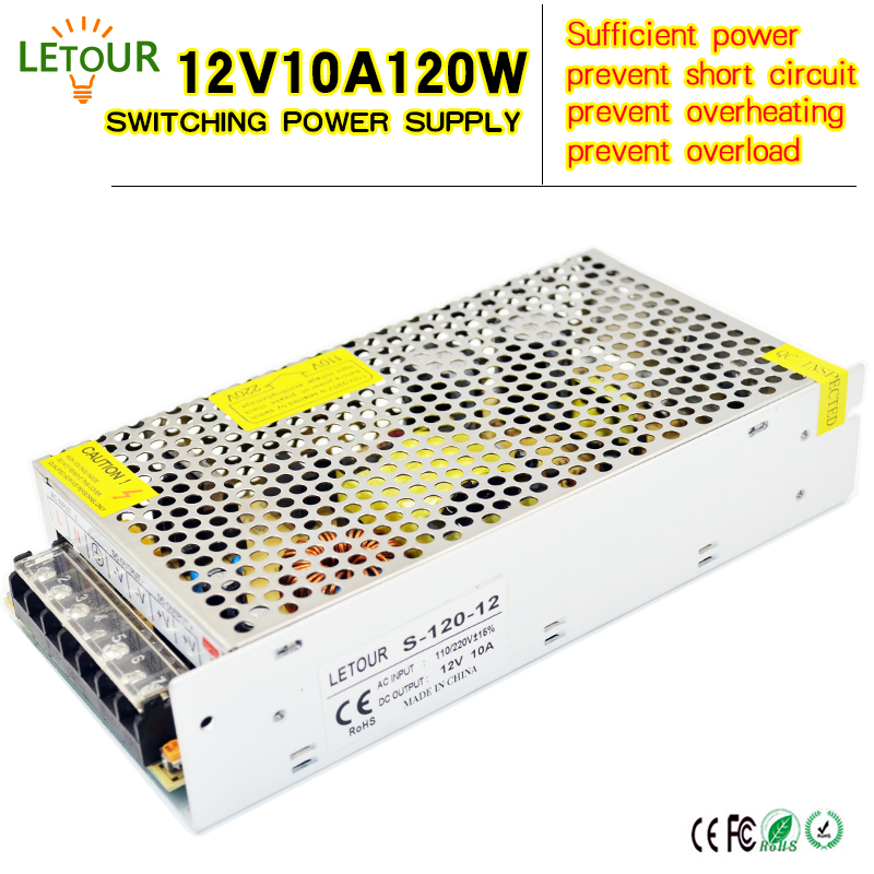 12V 10A 120W Power Supply Motor Adapter AC 96V-240V Transformer DC 12V 120W LED Driver AC-DC Switching Power Supply CE FCC Cert доска office point 70х100 магнитная на треноге