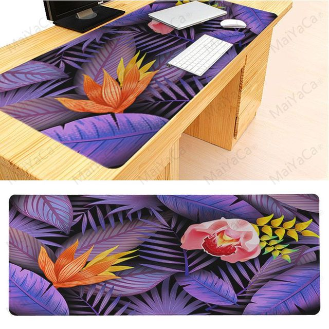 Tapis de souris MaiYaCa Design Simple fond Floral confort tapis de souris jeu tapis de souris Lockedge tissu en caoutchouc serrure bord tapis de souris Gamer