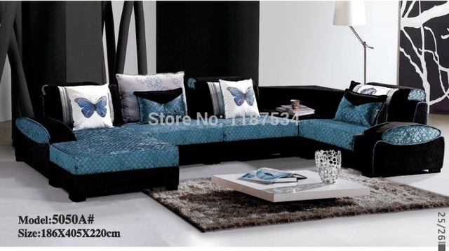 Elegant 5050A# High Quality Factory Price Home Furniture Living Room Sofa Sets  Fabric Corner Sofa Set
