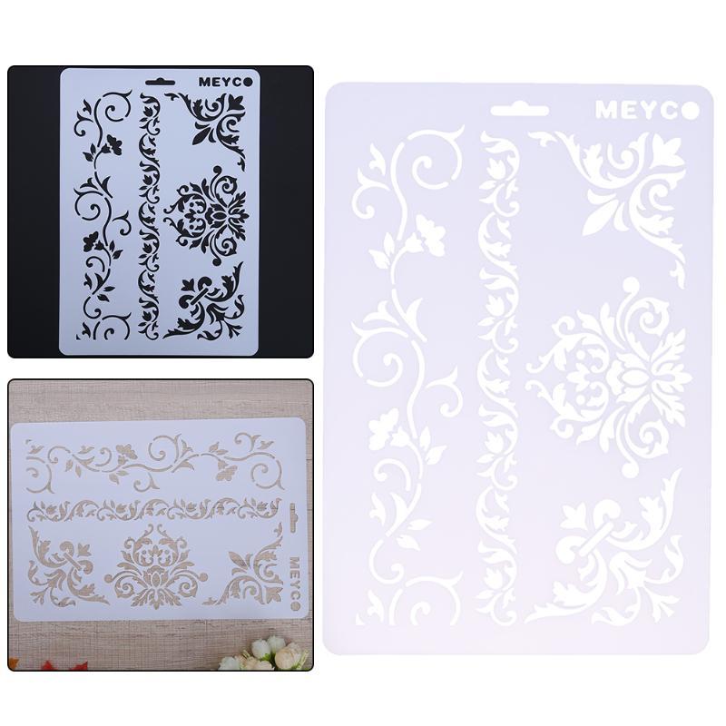 Flower Vine Pattern DIY Craft Layering Plastic Stencils Template Wall Scrapbooking Painting PhotoAlbum Decor Embossing Pochoir