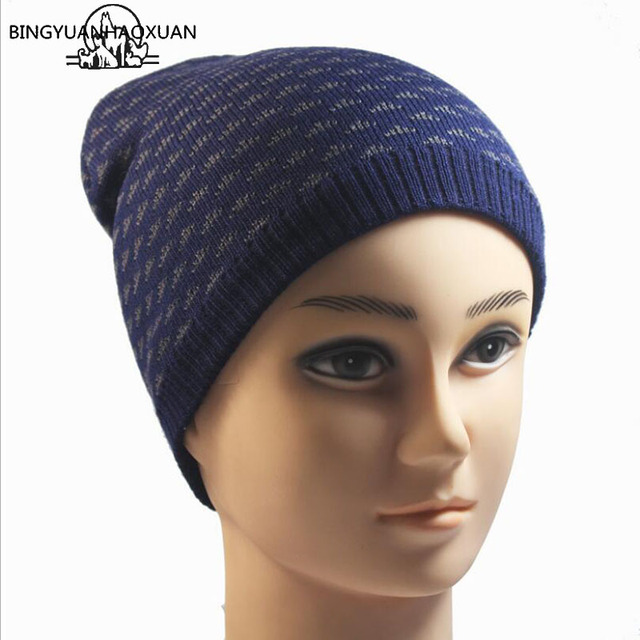 BINGYUNAHAOXUAN 2017 Best Sellers Knit Hat Winter Hat for Men Skullies  Beanie Warm Cap Man Cap Beanie High Quality knitting Hats fc5a594fc0a