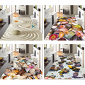 Креативный ковер в деревенском стиле  3D принт  цветочные коврики для прихожей для гостиной  спальни  кухонные Половики  Противоскользящий к...
