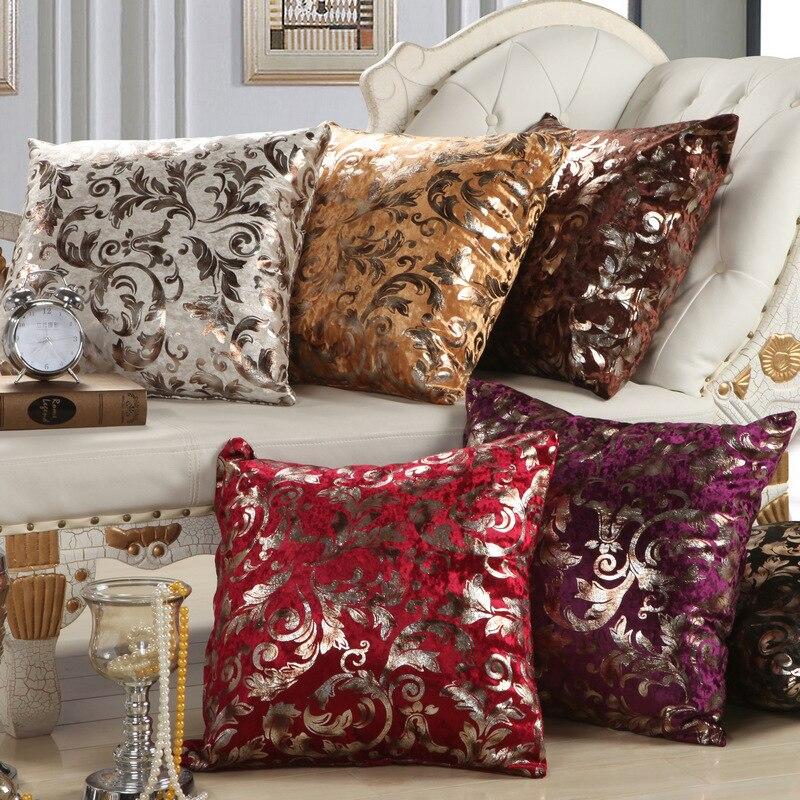 European Style Sofa Cushion Cover Fashion Iron Silver