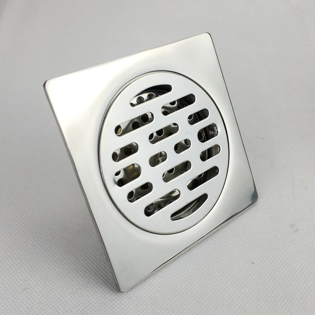 Drains Floor Drain Linear10*10cm Bathroom Kitchen Square Floor Drain  Strainer Cover For Kitchen Or