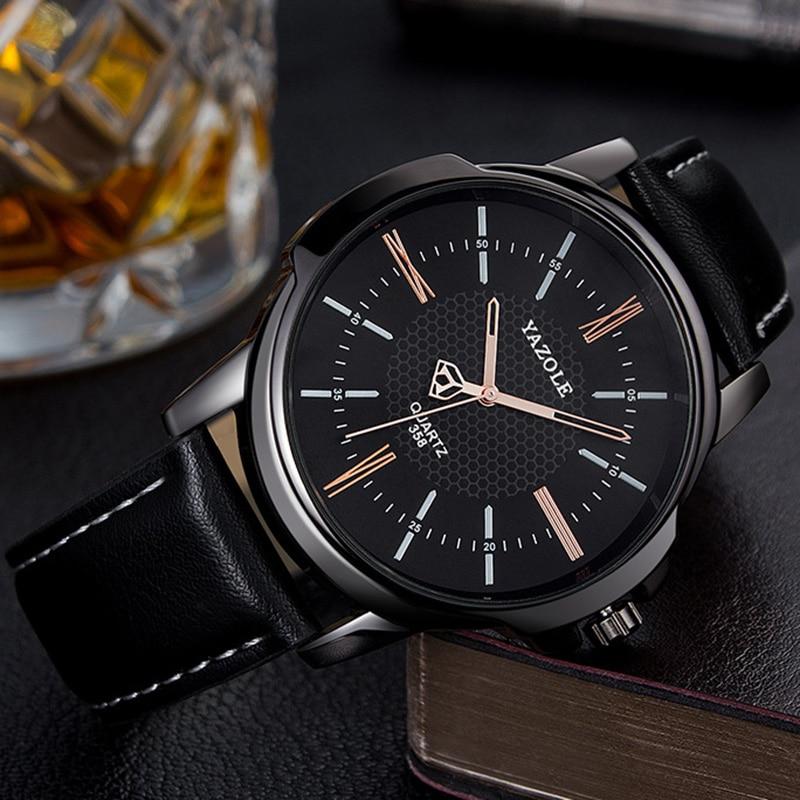 YAZOLE Mens Watches Top Brand Luxury Dress Male Clock Business Men's Wrist Watch Men Fashion Quartz Watch Relogio Masculino