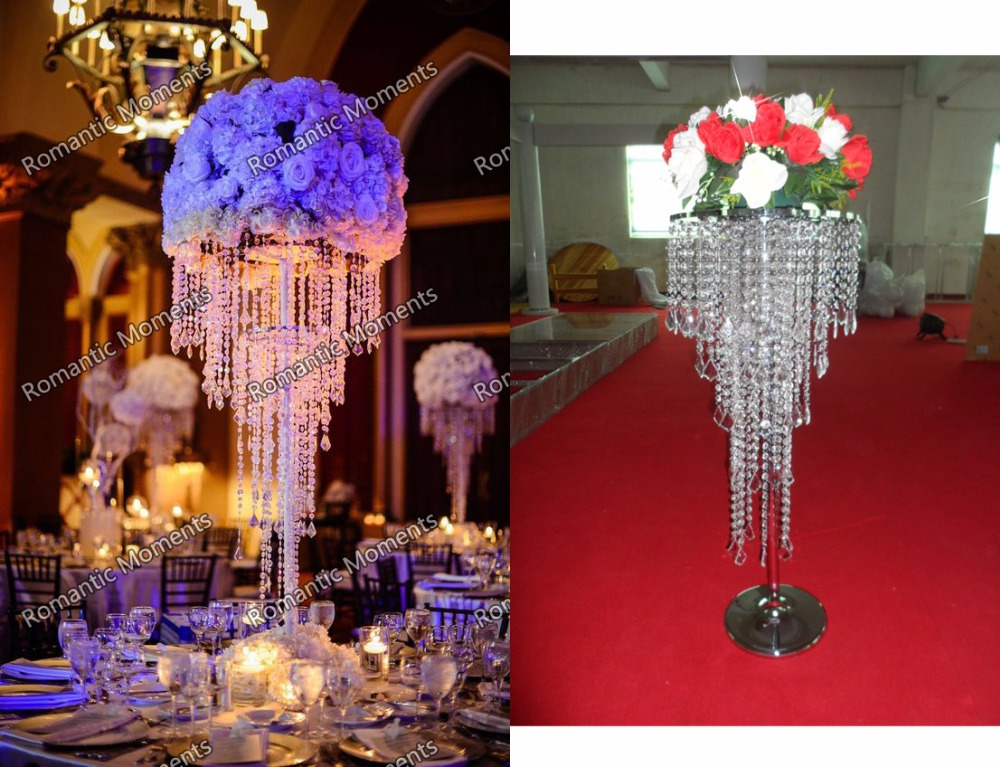 Free 80cm H Wedding Crystal Chandelier Flower Stand Banquet Decoration10pcs Lot In Vases From Home Garden On Aliexpress Com Alibaba