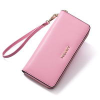 The first layer of leather purse 2017 new Korean long multi card wallet wholesale leather hand bag