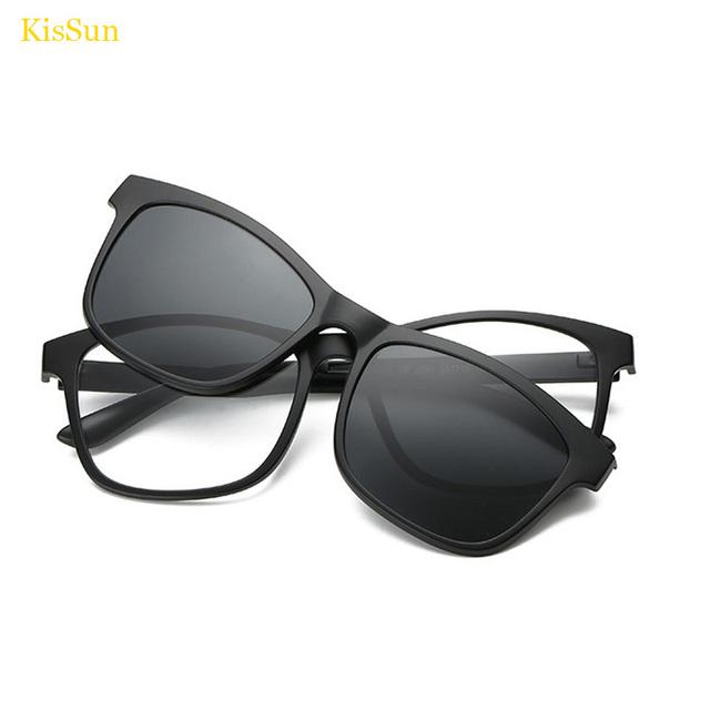 Óculos Feminino Óculos Óculos Para Mulheres Óculos Clip Magnético Clip Magnético Transparente Limpar Lens Óculos de Miopia Quadro