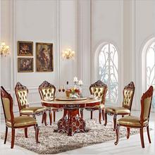 Антикварный стиль Итальянский обеденный стол, твердой древесины итальянский стиль роскошный обеденный стол набор pfy2001