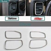 Tonliner 2 предмета DIY автомобиля Стиль Нержавеющая сталь обе стороны приборной панели Outlet Дело Чехол наклейки для Mitsubishi Outlander 2013-16