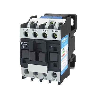 цена на 660V 3 Phase 3P N/O AC Contactor DIN Rail Mount 220V Coil CJX2-1210