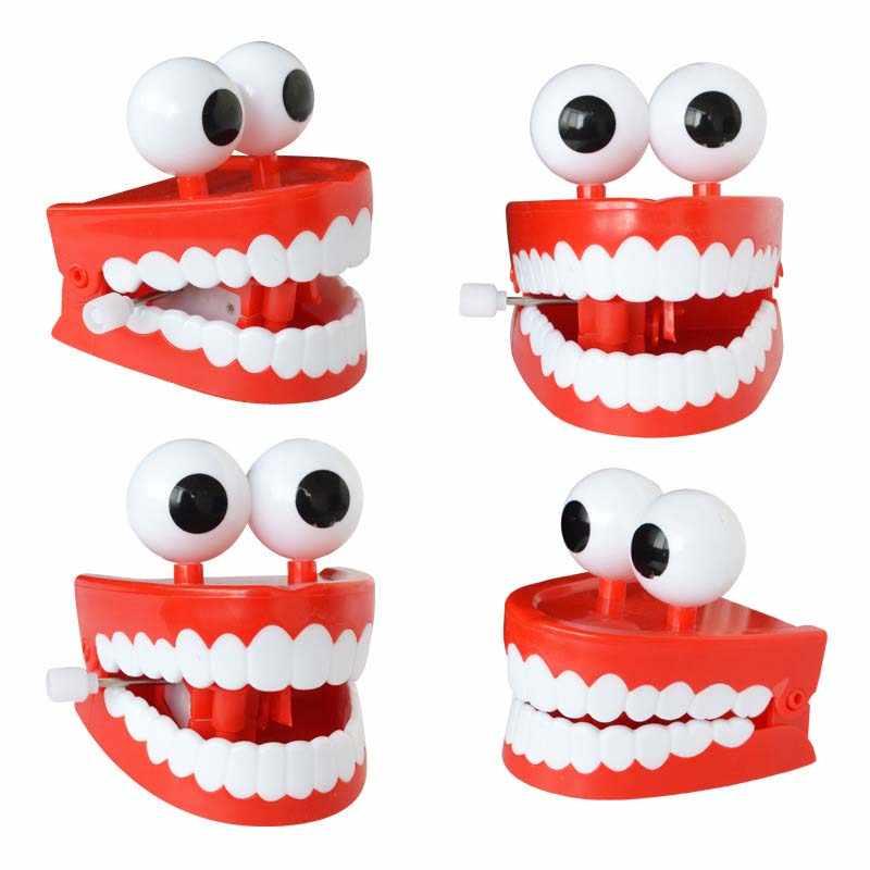 """Цепь с глазами зубы прыжки часы """"зуб"""" игрушка прыгнула творческие забавные зубы Juguetes Новое удовольствие унисекс подарок для маленьких детей CL5647"""