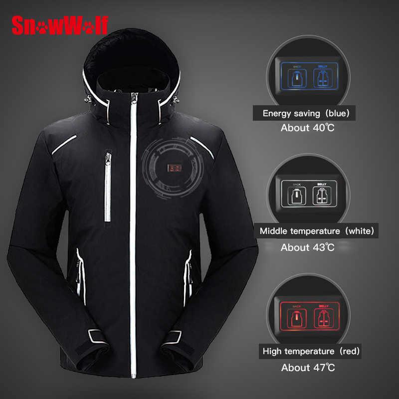 b4c22d595f ... SNOWWOLF 2019 Men Winter Ski Suit USB Heated Hooded Jacket Male Outdoor  Waterproof Windproof Breathable Thermal ...
