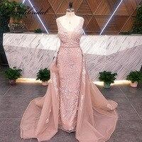 Новое поступление Реальные Фотографии знаменитостей ретро платья 2 в 1 Отделяемый подол для женщин роскошный формальный вечернее платье