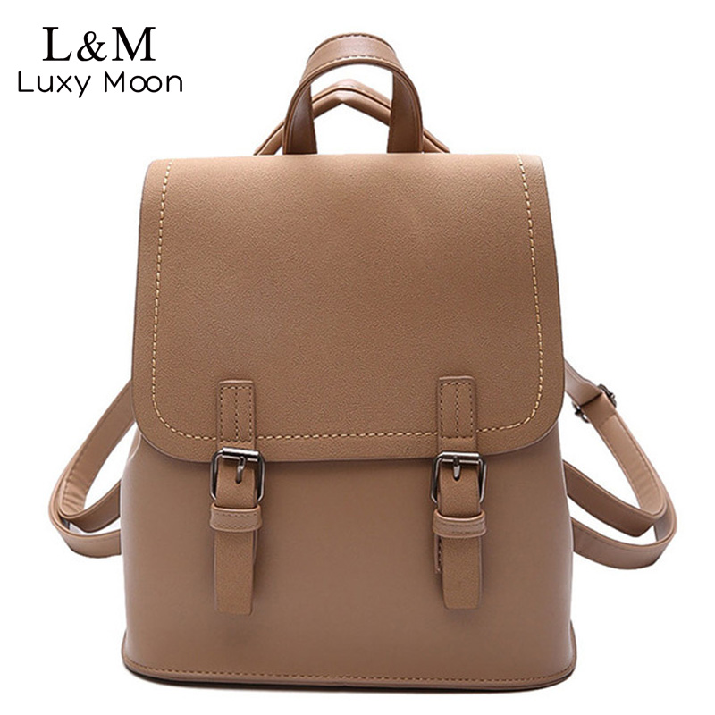 Backpack Women Backpacks Fashion Small School Bags for Girls Black Scrub PU Leather Female Backpack Sac A Dos Mochila XA1139H-1