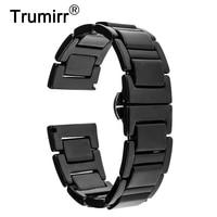 18mm 20mm Full Ceramic Watchband For DW Daniel Wellington Watch Band Wrist Strap Replacement Link Bracelet