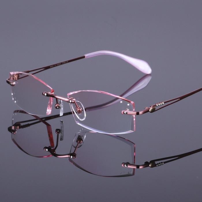 Brillen rahmen Diamant schneide Wasser schmuck titan spektakel ...