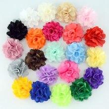 Атласные сетчатые цветы Nishine 20 шт./лот, «сделай сам», Детские аксессуары для волос, бутиковое свадебное украшение, цветочные аксессуары для в...
