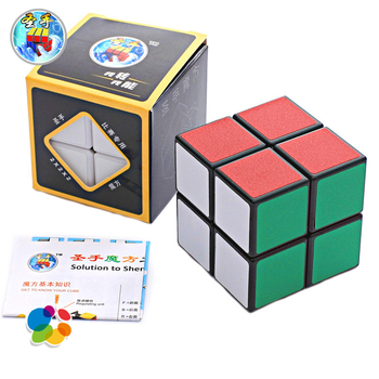 QiYi Classic Magic Cube 2*2*2 Puzzle Neo Cube Toy Sticker Block Puzzle Speed Cube 2x2 Cubo Magic Cubes Kids Toys For Children shengshou cube 2 x 2 x 2 mini cube black base fun educational toy