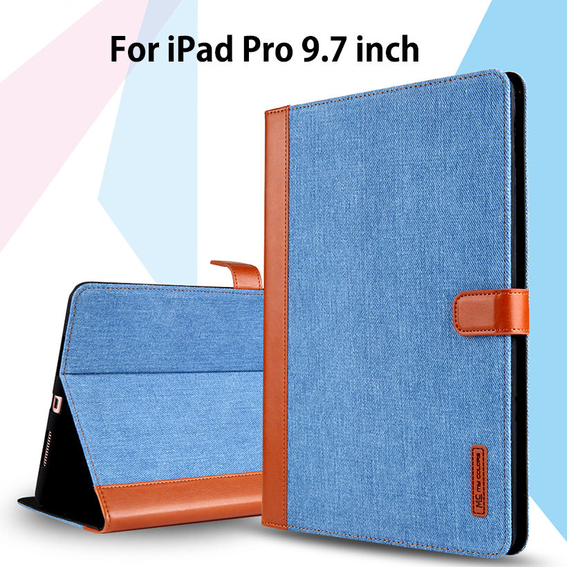 Case for iPad Pro 9.7 inch Smart Cover cowboy PU Leather Soft Silicone Folio Stand Auto Wake Sleep for 2016 Release iPad Pro9.7 case for ipad pro 12 9 inch esr pu leather tri fold stand smart cover case with translucent back for ipad pro 12 9 2015 release