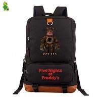 Five Nights At Freddy's 2 FNAF Backpack Women Men Laptop Backpack School Bags for Teenage Boys Grils Canvas Travel Bags