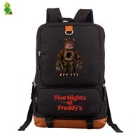 Five Nights At Freddy's 2 FNAF Backpack Women Men Laptop Backpack School Bags for Teenage Boys Grils Canvas Travel Bags