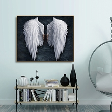 Damaged White Angel Wings Canvas Painting Calligraphy Prints Home Decoration Wall Art Posters Pictures For Living Room Bedroom