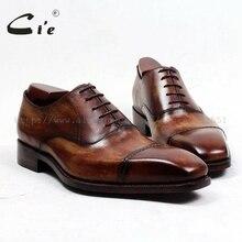 Cie משלוח חינם העידו בעבודת יד של גברים אוקספורד נעל משרד/קריירה יד צבוע שרוכים כיכר Captoe מלא תבואה עור OX498
