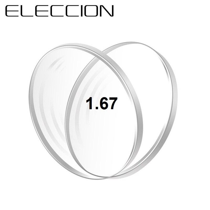 ELECCION 1,56 1,61 12,00 8,00 (Sph: + 1,74 -1,67) Lentes asféricos miopía hiperopía presbicia lente de prescripción óptica