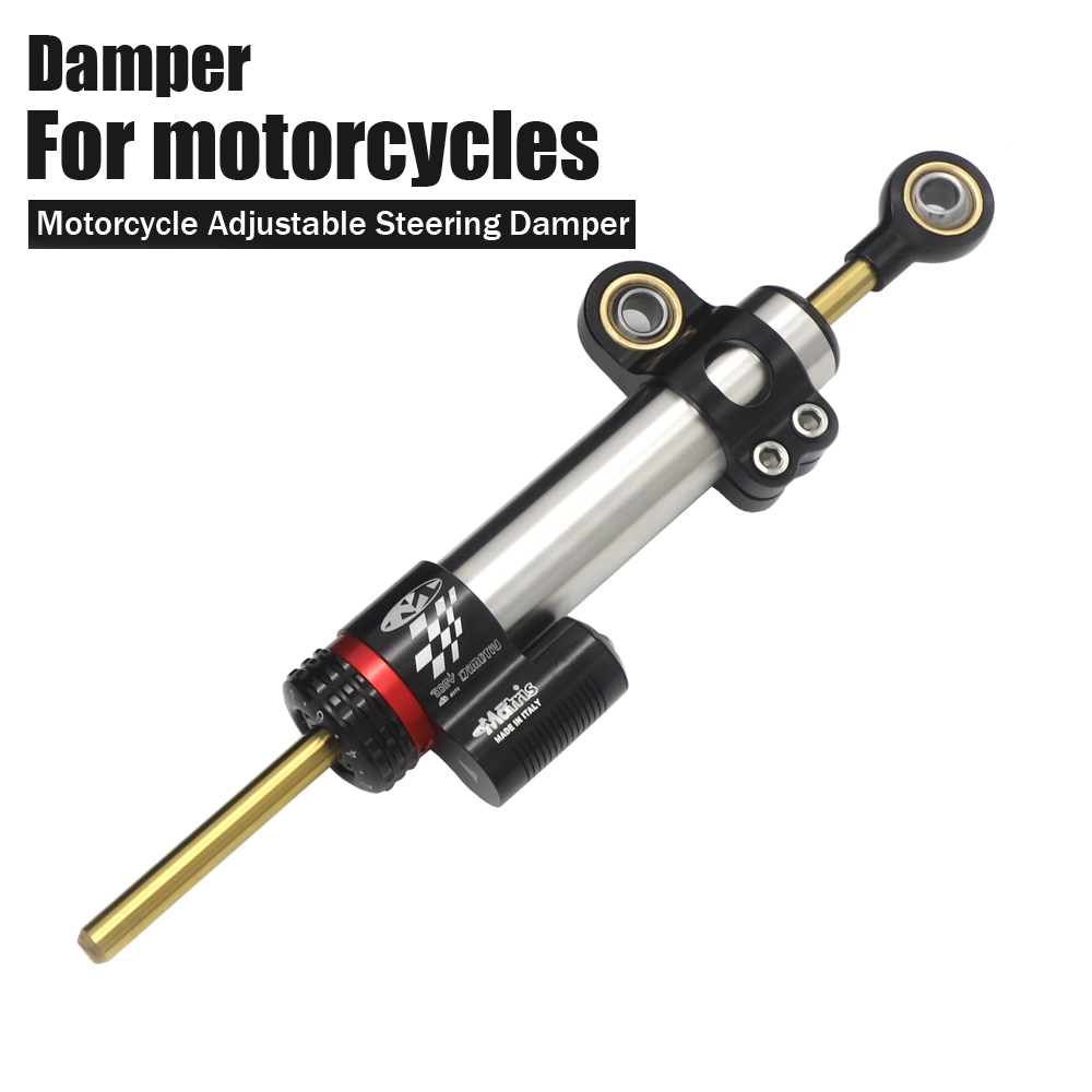 Universal Motorcycle Adjustable Steering Damper Stabilizer For Yamaha MT10 MT 10 MT 10 MT 07 MT 07 MT07 MT09 MT 09 MT 09-in Covers & Ornamental Mouldings from Automobiles & Motorcycles