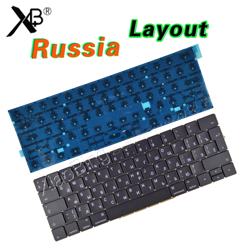 цена New A1707 keyboard for Macbook Pro Retina 15'' A1707 Russian Russia RU Keyboard Backlight Backlit EMC3072 EMC3162 2016 2017Years