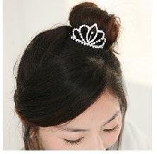Hair Accessories For Women Rhinestone Crystal Crown Comb Clip Bridal Tiara 6PCS  B4.50 H008 ABC