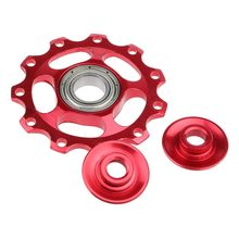 11T Aluminum Bicycle Bike Rear Derailleur Jockey Wheel Guide font b Roller b font Pulley Holes
