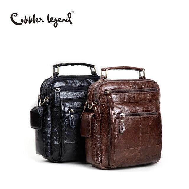 Cobbler Legend Brand Designer Men's Shoulder Bags Genuine Leather Business Bag 2016 New High Quality Handbags For Men 109171