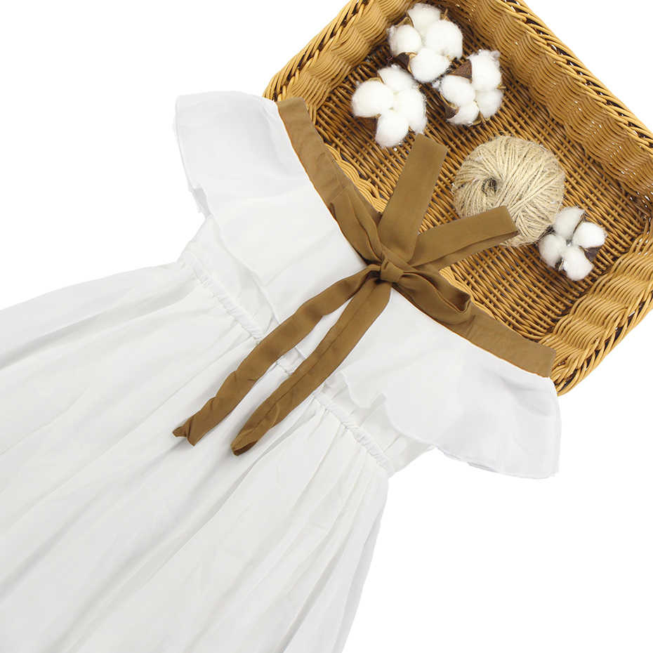 Vestito Per Le Ragazze 6 8 10 12 14 Anni I Bambini Vestito Da Partito Adolescente Bianco Abiti Da Spiaggia Dei Bambini Nuovi Vestiti Dei Capretti di Estate delle ragazze 2019