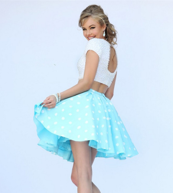 Polka Dot Top Prom Dresses