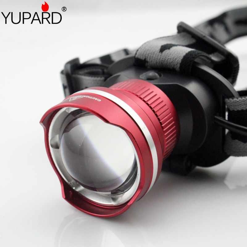 Yupard xml xm-t6 الصمام للماء التكبير المصباح ضوء led 3 وضع التركيز الأمامي كشافات التخييم الصيد