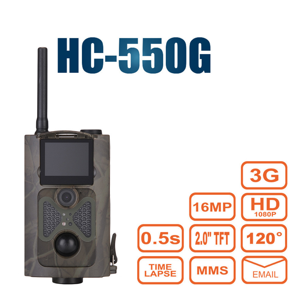 HC-550G Hunting Camera Wild Trap Infrared HD 16MP SMS MMS SMTP GPRS 3G 120 Degrees Hunter Game Trail Forest Wildlife Camera hc   550g hunting camera four languages
