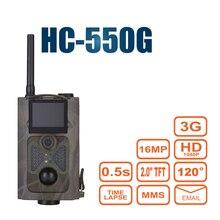 HC-550G Polowanie Kamery Dzikiego Pułapka Podczerwieni HD MP SMS MMS GPRS SMTP 3G 120 Stopni Hunter Gry Wildlife Trail Las kamera